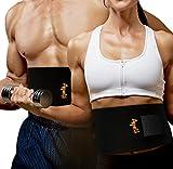 Faja Reductora Adelgazante para Hombre y Mujer, ayuda a Reducir Cintura y Abdomen - Faja Deportiva Lumbar y Abdominal para hacer Deporte, Fitness y proteger los lumbares - Faja de Neopreno con Velcro