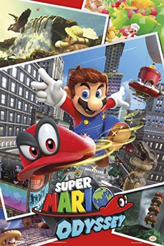 Pyramid America Super Mario Odyssey Video Game Gaming Cool Wall Decor Art...
