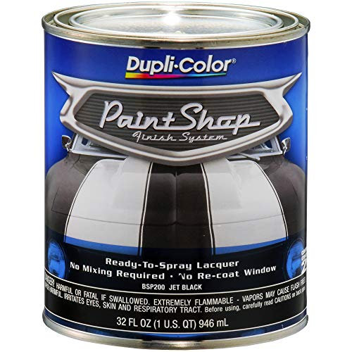 Dupli-Color BSP200 Jet Black Paint Shop Finish System - 32 oz, Single