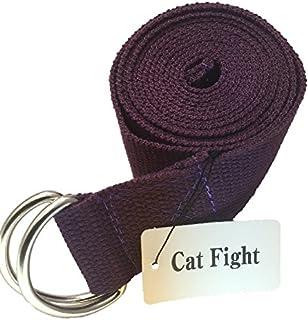 【Cat fight】 ヨガベルト ヨガストラップ ストレッチ ストラップ フィットネス 長さ1m85cm
