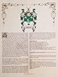 Mr Sweets Greenleaf Coat of Arms, Crest & History 8.5x11 Print - Name Meaning, Genealogy, Family Tree Aid, Ancestry, Ancestors, Namesakes - Surname Origin: Scottish Scotland