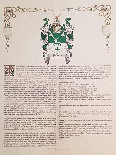 Mr Sweets Tronco Coat of Arms, Crest & History 8.5x11 Print - Name Meaning, Genealogy, Family Tree Aid, Ancestry, Ancestors, Namesakes - Surname Origin: Italian Italy