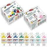 Viva Kids Fingerfarbe (Großes Set) Fingerfarben ungiftig & hoch deckend für Kinder auf Wasserbasis Made in Germany