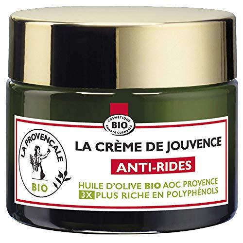 La Provençale - La Crème de Jouvence Anti-Rides - Soin Visage - Certifié Bio - Huile d'Olive Bio AOC Provence - Fabriqué en France - Tous Types de Peaux