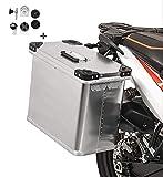 Borse Laterali alluminio Bagtecs 1 x 34l + Kit montaggio per portavaligie 16 mm Ducati Multistrada 620/ 950/ 1000/ 1100/ 1200/ S/ 1200 Enduro, Scrambler/ Classic/ Café Racer