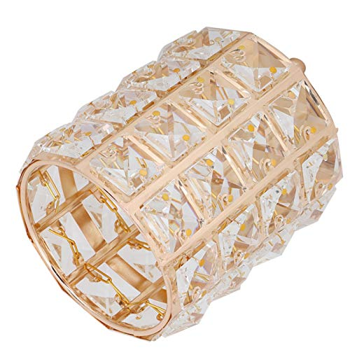 minifinker Caja de Almacenamiento, Caja de Almacenamiento de Joyas Exquisito y Elegante Organizador de lápiz de Cejas de Metal Organizador de Cristal para el hogar para Cepillo cosmético(Gold)