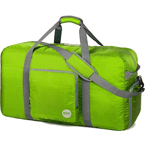 WANDF Faltbare Reisetasche 60-100L Superleichte Reisetasche für Gepäck Sport Fitness Wasserdichtes Nylon von WANDF (Grün, 100L)