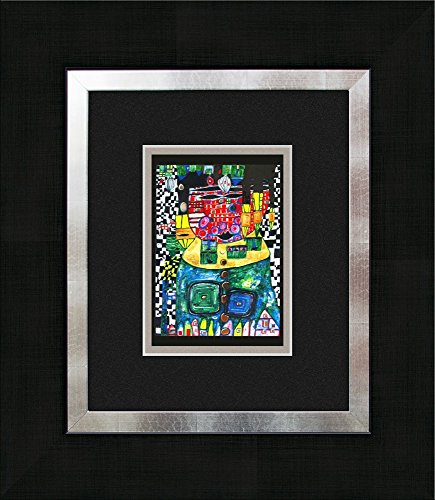 artissimo, Kunstdruck gerahmt, 40x45cm, AG3083, Friedensreich Hundertwasser: Antipode King, Bild, Wandbild, Poster, Wanddekoration