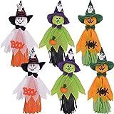 ZSWQ Ciondolo Bambola Fantasma di Halloween Elementi Decorativi di Zucche, Fantasmi E Ragni, per La Casa, Giardino,Bar, KTV, Supermercato Decorazioni, 6Pcs