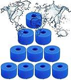 CXYXHW Esponja de filtro para Intex tipo S1, reutilizable y lavable, filtro de hidromasaje, repuesto para spa de piscina (10 unidades)