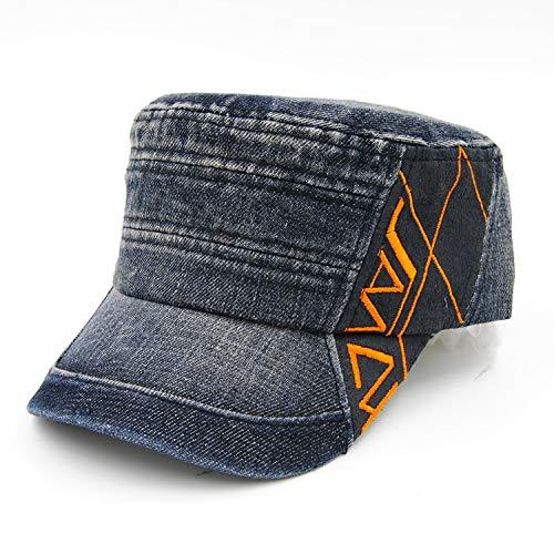 Sombrero de Hombre para Mujer Nuevo Simple Color a Juego Puro algodón Sombrero de Copa Plano Tendencia de Moda Bordado para Mujer