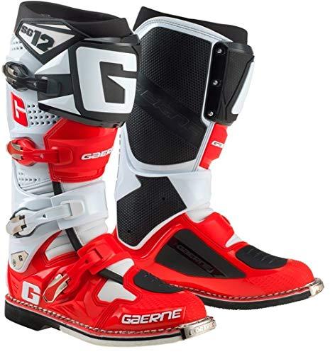Gaerne 2174-053-47 SG-12 Erwachsene Stiefel, Rot/Weiß, Größe 47