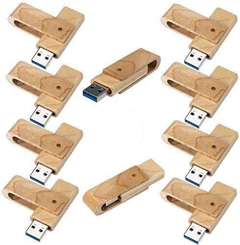 5PCS / 10PCS木製2.0 / 3.0 USBフラッシュドライブUSBディスクメモリスティック(木製) (10PCS, 3.0/16GB)