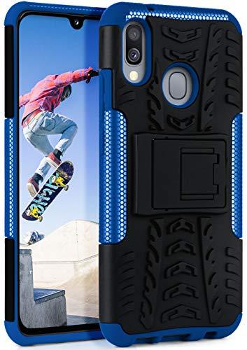 OneFlow Cover Sportiva Doppio Strato Compatibile con Samsung Galaxy A40   Silicone/plastica, Blu