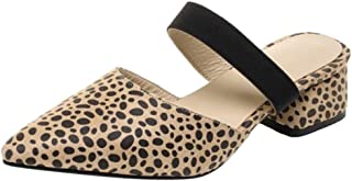 MisaKinsa Women Fashion Mid Heel Mules Closed Toe
