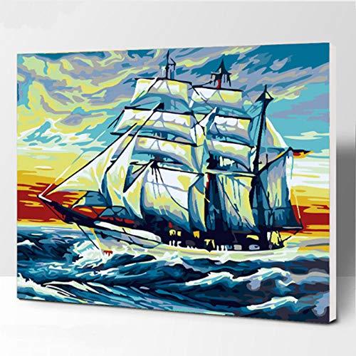 Desfile junto al mar pintura diy digital habitación con vista al mar pintura al óleo pintada a mano en casa