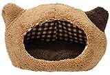 スーパーキャット (Super Cat) ぬくふかハウス猫型M ブラウン/ブラウンチェック