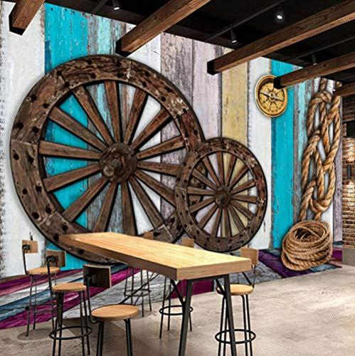 3D-Tapete Aus Foto Muralen Retro Nostalgierad-Seilplattform 450X350Cm Tapete Moderne Wohnzimmer Mural Schlafzimmer Kinderzimmer Tv Hintergrund Wand Dekoration