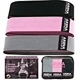 excersize programs - Arena Strength Fabric Booty Bands: Fabric Resistance Bands for Legs and Butt: 3 Pack Set. Perfect Workout Hip Band Resistance. Workout Program and Carry Case Included.…