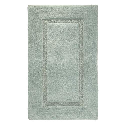 Price comparison product image iDesign Spa Bathroom Mat,  Rectangle-Shaped Small Rug Made of Cotton,  Sage Green,  53.3 cm x 86.4 cm