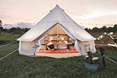 Bell tent is a human shelter for inhabiting, traveling or leisure. The design is a simple structure, supported by a single central pole, covered with cotton canvas. The stability of the tent is reinforced with tension by guy ropes connected around th...