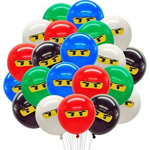 WENTS Ninja Luftballons Ninja Ballons Kindergeburtstag Deko Partydekorationen für Jungen 1. 4. 5. 6. 7. Geburtstag Ninja-Partyartikel im 50er-Pack