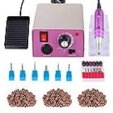 Torno para uñas acrilicas Paquete de máquina de pulido de uñas eléctrica de con Pedal Manicura...