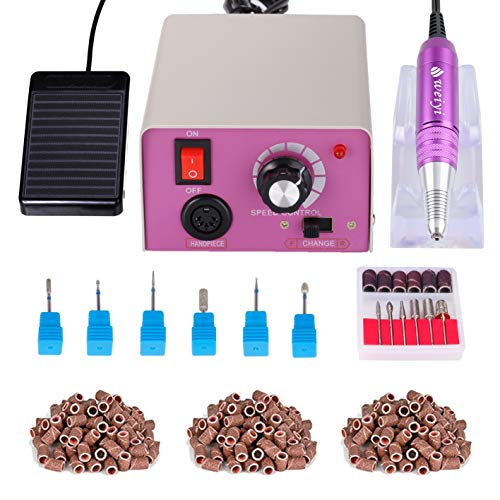 Torno para uñas acrilicas Paquete de máquina de pulido de uñas eléctrica...