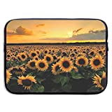 Waterproof Laptop Sleeve 13 Inch, Sunflowers Sunset Business Briefcase Protective Bag, Computer Case Cover for Ultrabook, MacBook Pro, MacBook Air, Asus, Samsung, Sony, Notebook