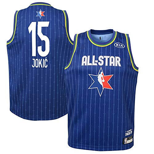 Youth 2020 NBA All-Star Game Nikola Jokic Blue Swingman Jersey Youth Sizes (Youth Medium (10/12))