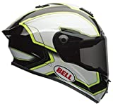 Bell Street Star Full Face Motorcycle Helmet (Pace Black/White, Small) (Non-Current Graphic)
