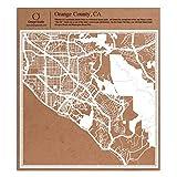 O3 DESIGN STUDIO Orange County, CA. Papierschnitt Karte