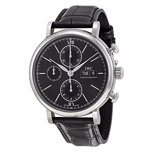 IWC Men's Swiss Automatic Watch with Stainless Steel Strap, Black (Model: IW391008)