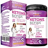 Nurse Hatty - Keto Strips 150ct. - New & Improved - U.S.A. Made - High Performance - Perfect for Ketogenic, Low Carb, Atkins & Paleo Diets - Urine Ketone Test (100ct. + 50 Free)