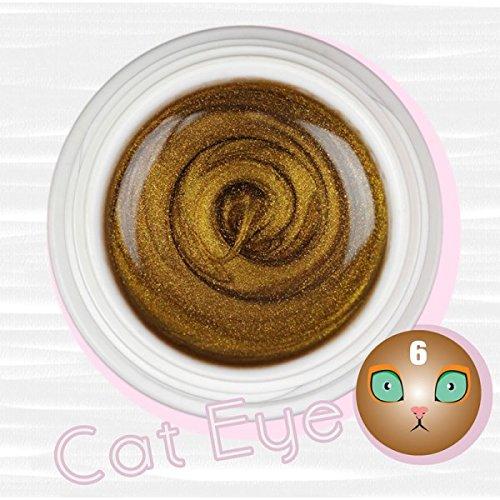 Cat Eye Couleur de vernis Gel UV magnétiques 5 ml – Art de la décoration/Reconstruction des Ongles particules magnétiques et pochoirs oro gold