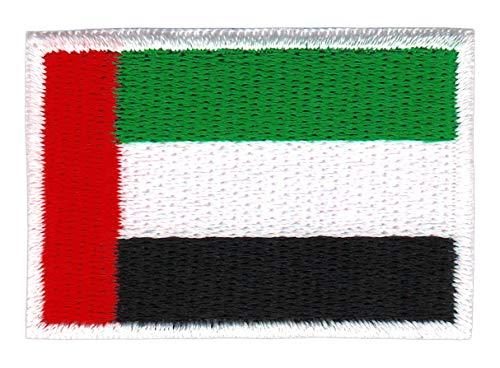 Bestellmich Vereinigte Arabische Emirate Flagge Klein Aufnäher Bügelbild Größe 4,7 x 3,2 cm