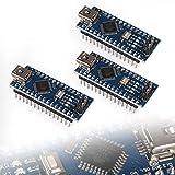 ALMOCN 3Pcs for NANO for V3.0 ATMEGA328P Modules, for Nano for V3.0 Development Board CH340G Chip for Nano Board Microcontroller Board for Arduino