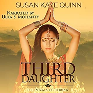 Third Daughter     The Royals of Dharia, Book 1              De :                                                                                                                                 Susan Kaye Quinn                               Lu par :                                                                                                                                 Ulka S. Mohanty                      Durée : 9 h et 35 min     Pas de notations     Global 0,0