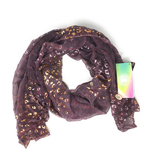 Coronel Tapiocca - Pañuelos de Cuello para Mujer. Fulares con Varios Estampados Diferentes. Varios Colores y Tamaños (POL - LEOPARDO, LEOPARDO ROSA)