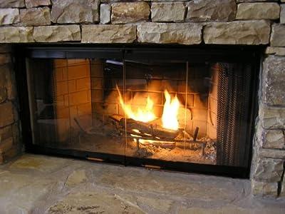"Heatilator Fireplace Doors - Black 42"" Glass Doors - DM1042 from Heatilator"