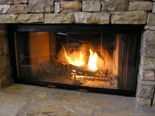 Heatilator Glass Fireplace Doors - Black 36""