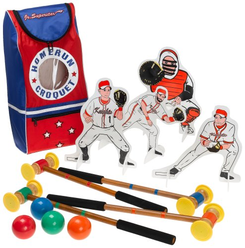 Jr. Superstar Homerun Croquet Set For Indoors And Outdoors