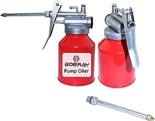 boeray 2 pcs 8OZ Capacity(250ML) High Pressure Pistol Hand Feed Oil Spray Gun Pump Bottle Oiler Can