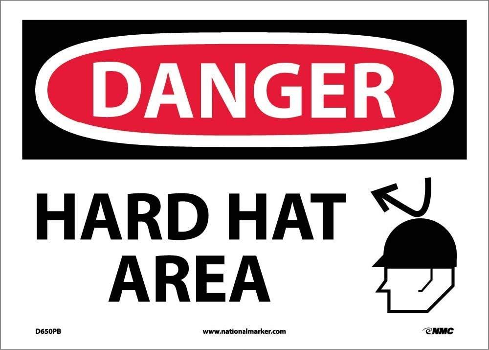 National Marker Danger, Hard HAT Area, Graphic, (D650PB)