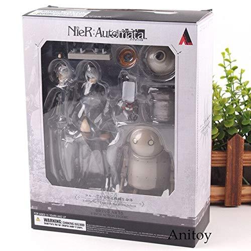 NieR Automata 2B Figuur YoRHa No.2 Type B & Machine Lifeform BRING ARTS 6 Inch Action Figure PVC Collection Model Hot Toys, met doos
