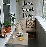 KESTEX XL Home Sweet Home Schriftzug WANDBILD 21 x 47 cm Metall Wand DEKO SCHWARZ WANDDEKO Moderne Premium WANDDEKORATION WANDKUNST Metall-Design Wand-Zitate Metall-Wandkunst Metall-Wandschilder