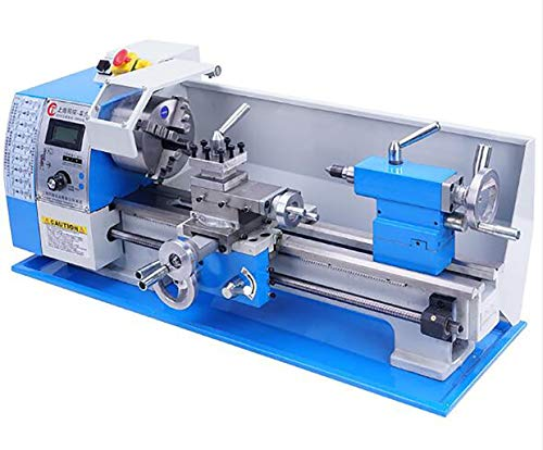 Learn More About GHGJU Small Lathe,Woodworking Lathe,Metal milling Machine,All-Metal Gear Set,Four-j...