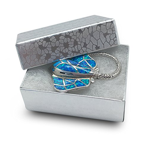 """TheDisplayGuys Pack of 25 Cotton Filled Cardboard Paper Silver Jewelry Box Gift Case - Silver Foil #11 (2 1/8"""" x 1 6/8"""" x 3/4"""") Colorado"""