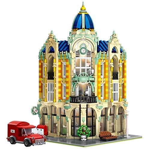 Ministerio de juguete de Comercio Calle Vista de la calle Correa de correa Oficina antigua Tienda de antigüedades Altas Dificultad para adultos ensamblados Jade Star Building Block Modelo de bloqueo