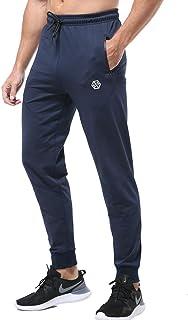 Gerlobal Men's Joggers Sweatpants Workout Running Gym Pants with Zipper Pockets